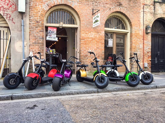 NOLA Cycles rents electric scooters and bicycles in New Orleans.