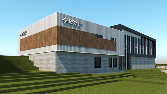 An architecture rendering shows what a new 36,000-square-foot Endeavor Fitness under construction on Eager Road in Oceola Township will look like.