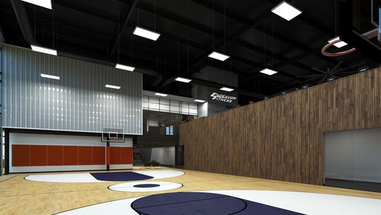 A rendering shows what a basketball court to be built at a new Endeavor Fitness gym and health center will look like. The center is construction in Oceola Township.