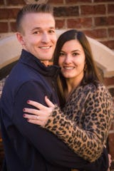 Ben Wood and Mara Porritt got engaged Dec. 14, 2019 by the fireplace at Rotary Park in Lansing.