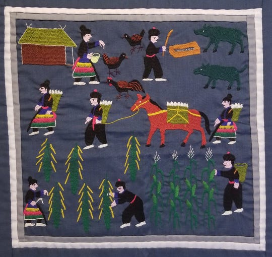 A Hmong textile that will be displayed at the Rahr-West Art Museum in Manitowoc.