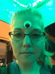 Stephanie Carpenter channels her inner-alien at 2019 Sputnikfest.