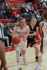 Shelby's Olivia Baker led the Lady Whippets to two MOAC victories last week helping her team complete the first-half sweep.