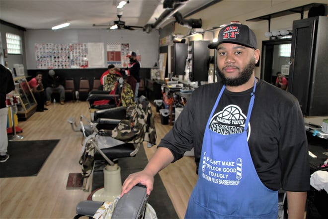Daveon McGary is the owner of Platinum Plus Barber Shop, located at 134 London Street in Marion. He also runs two other businesses he owns, Platinum Sound Lab and 740 Urban Apparel, out of his London Street location. McGary, 29, a Marion native, said he loves his hometown and wants to help the city grow.