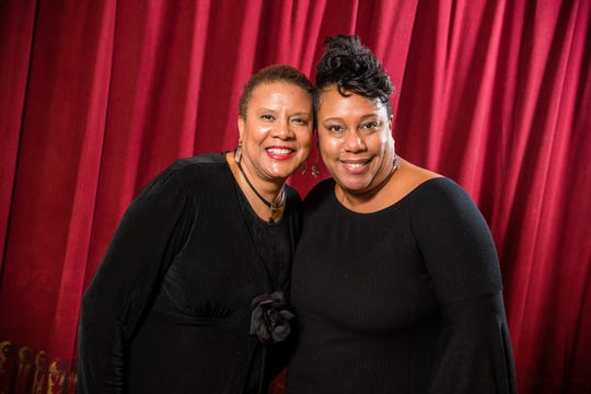 """Director Sheri Williams Pannell, left, and music director Christie Chiles Twillie are the shepherds of Skylight Music Theatre's """"The Gospel at Colonus."""""""