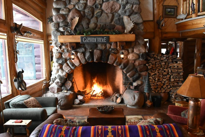 Big Bear Lodge in Grand Marais has a large, wood-burning fireplace that's part of a Fireplace Tour during the city's Hygge Festival in February.