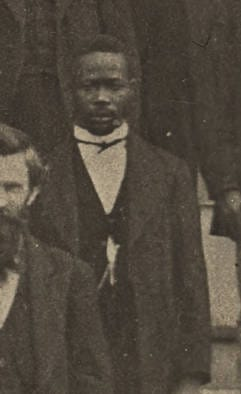 This 1872 photo shows Jeremiah Haralson at the beginning of his term in the Alabama Senate. Haralson managed to get a civil rights bill and an education funding bill through the chamber during his term.