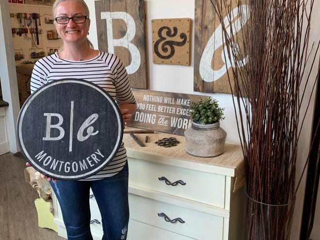 Owner Brandie Jeffries and her team have been busy showing customers how to make beautiful wooded signs inside Board & Brush,  located at 7236 Halcyon Park Drive in PepperTree Plaza.