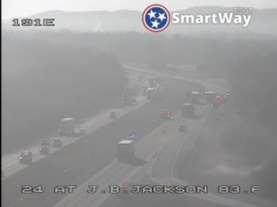 Crash on I-24 east in Rutherford County