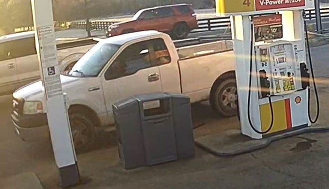 A photo from the market's surveillance video showed footage of the truck in question.