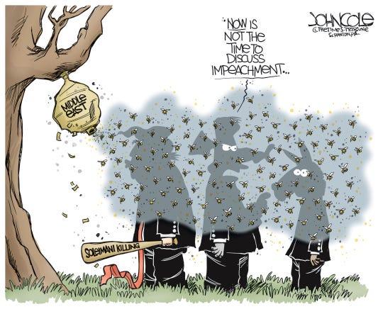 Iran talk swarms impeachment.