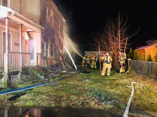 Newark firefighters responded to a fire at a duplex on Lawrence Street on Sunday, Jan. 5, 2020.