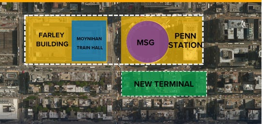 Eight new tracks and several new entrances would be added south of the existing Penn Station, according to an announcement from Gov. Andrew Cuomo.