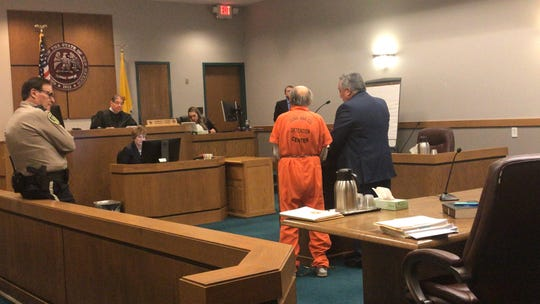 Tommie Joe Valverde, 79, who is accused of child rape, appears in Third Judicial District Court, Monday Jan. 6, 2020.
