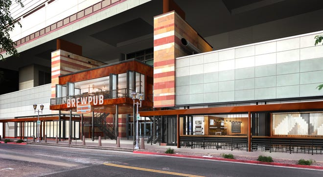 Huss Brewing's new two story brewpub at the Phoenix Convention Center is scheduled to open in fall, 2020.