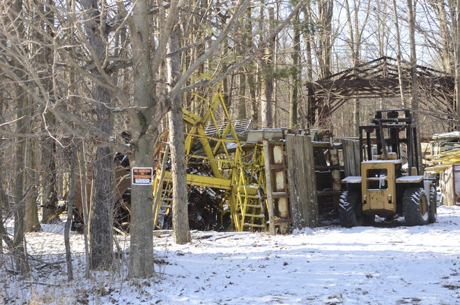 Environmental officials investigated a site on Loree Road in Sanilac County's Marion Township owned by Gary Sayers on Monday, Jan. 6, 2019.