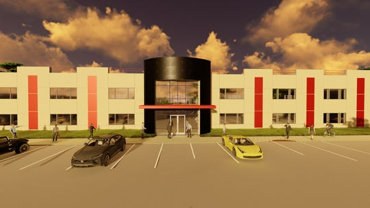 Renderings of The Horse Oasis, a 16-building commercial office and retail project at the Tahoe-Reno Industrial Center.