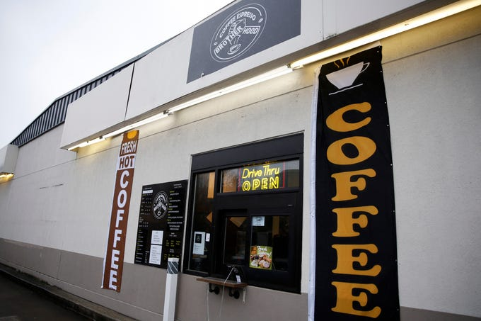 Brotherhood Coffee, now open on the back side of the Chevron station at Madrona and Commercial St. SE in Salem on Jan. 6, 2020.