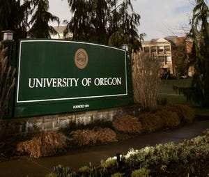 University of Oregon campus.