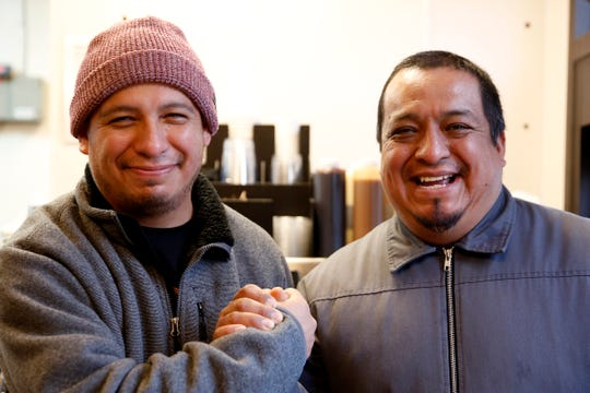 Israel and Eduardo Garcia, the namesake behind Brotherhood Coffee, now open on the back side of the Chevron station at Madrona and Commercial St. SE in Salem on Jan. 6, 2020.