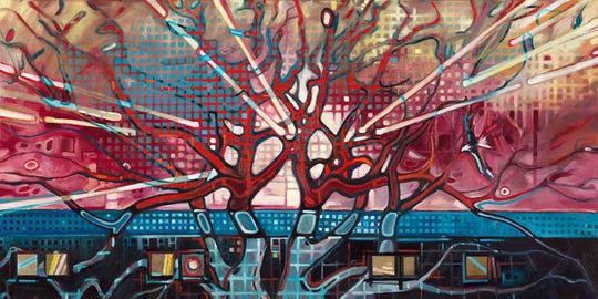 """Tree of Life"" is part of Matt Hebert's exhibit that runs Jan. 14-Feb. 22 at the Paramount Center for the Arts lobby."