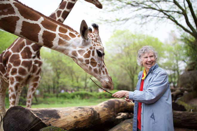 """The documentary """"The Woman Who Love Giraffes"""" chronicles Anne Inniss Dagg, the first zoologist to study wild animal behavior in Africa."""