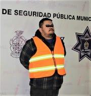 """Jesus Alfredo M.M., alias """"El Freddy orEl Ferro,"""" an alleged Barrio Azteca gang leader was arrested in Juarez, Mexico."""