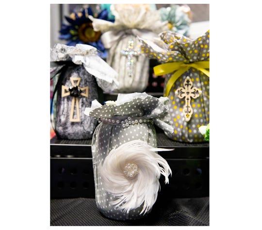 Decorative jars made by Christian Paul.