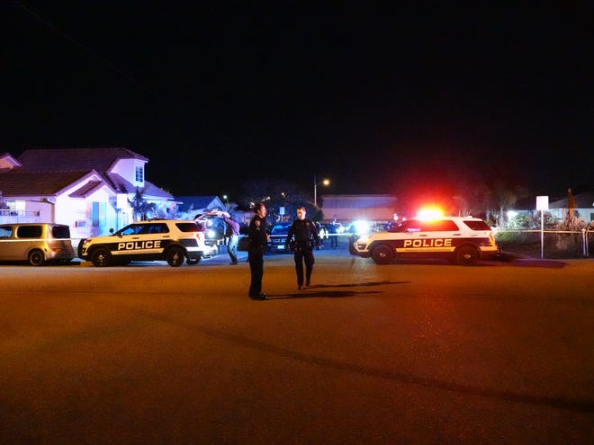 Oxnard police investigate a fatal shooting Sunday night at Marquita and Second streets.