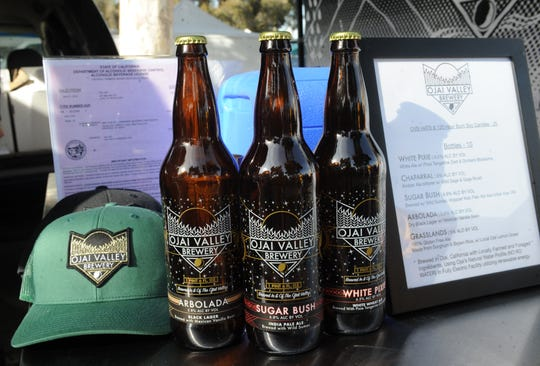 Ojai Valley Brewery has started offering free samples and by-the-bottle sales of its ales and lagers at the Ventura County Certified Farmers' Market in downtown Ventura. It takes place from 8:30 a.m. to noon Saturdays.