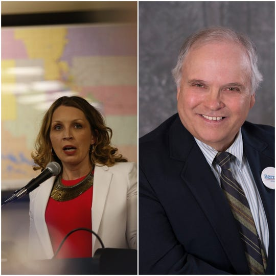 Tricia Zunker, left, and Lawrence Dale are running as Democrats for Wisconsin's 7th Congressional District.