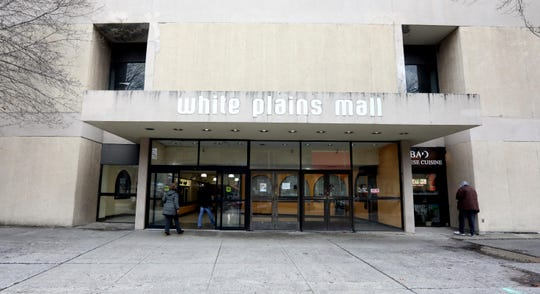 The White Plains Mall, photographed in January, is mostly vacant, but draws crowds to the DMV.