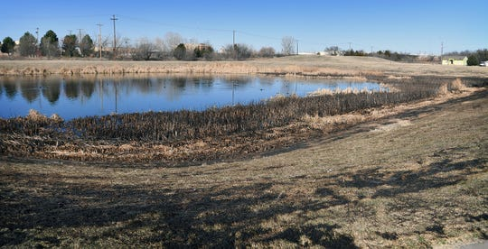 A body was found Sunday at Maplewood Pond as Wichita Falls firefighters put out a grass fire.