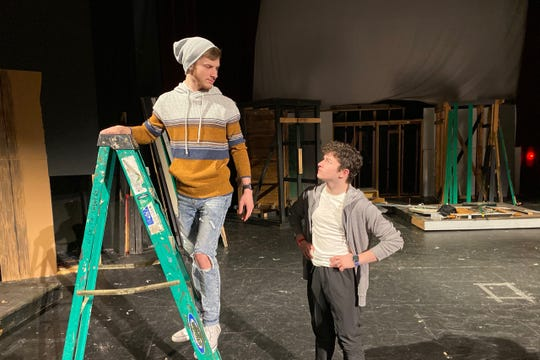 """Tony (Andrew Morrow) and Riff (Carson Hollingsworth) is the new production of """"West Side Story,"""" which opens 7:30 to 9:30 p.m. Fri., Jan. 17 & Sat., Jan. 18; at the Wichita Theatre. The play skips a week and then runs Fridays and Saturdays from Jan. 31 to Feb. 15. There are 2 p.m. Saturday matinees on Jan 18 and Feb. 1, 8, and 15."""