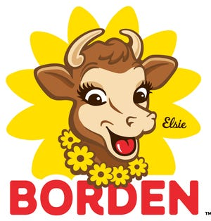 """Elsie the Cow is a cartoon cow developed as a mascot for the Borden Dairy Company in 1936 to symbolize the """"perfect dairy product""""."""