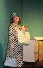 "Sarah Gantzer portrays Corie in the Zane Trace Players' production of ""Barefoot in the Park."""