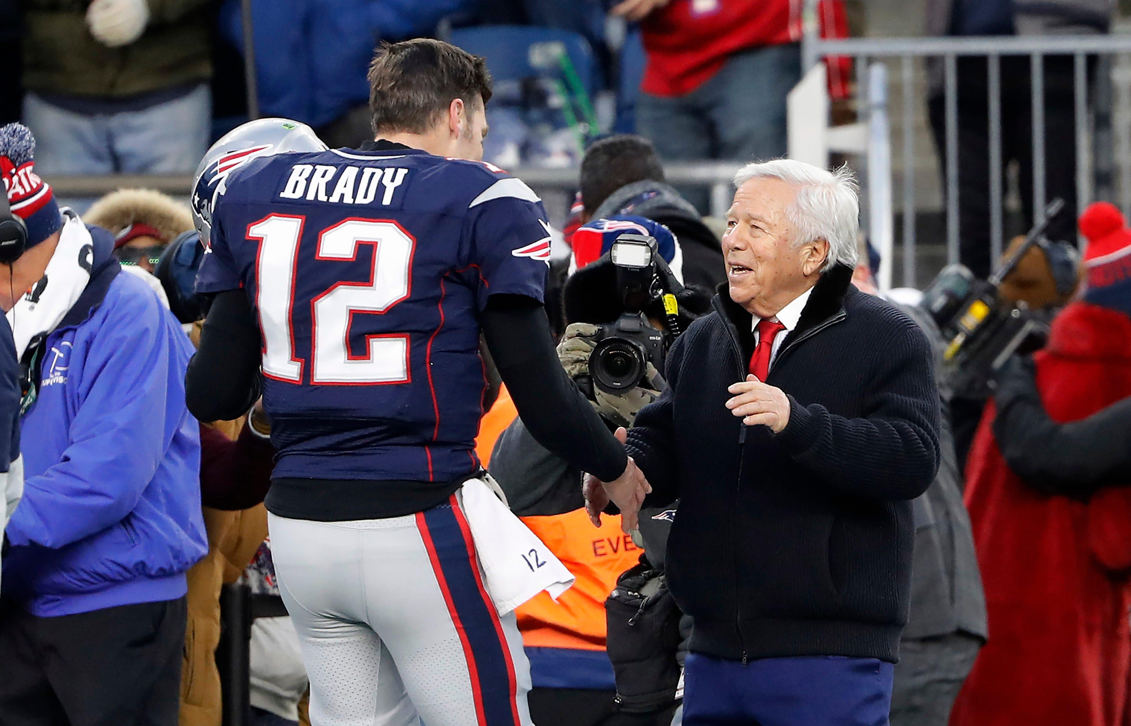 Tom Brady: Patriots owner Robert Kraft's 'hope and prayer' is he stays