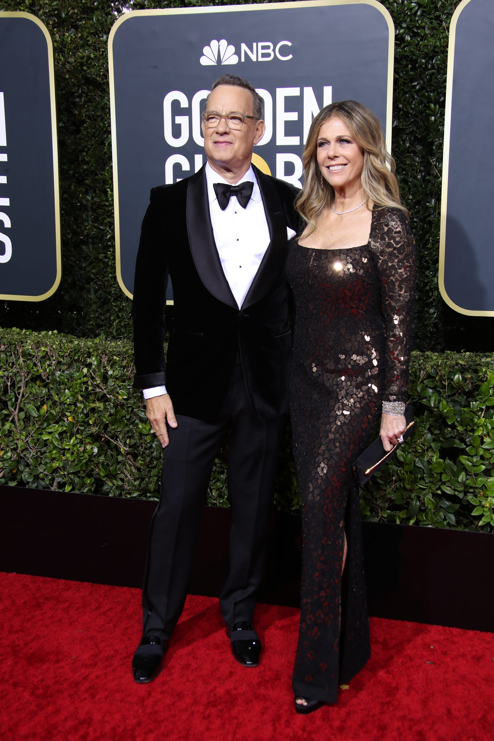 Tom Hanks, left, and Rita Wilson