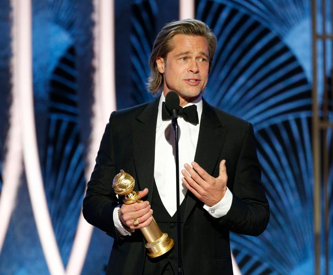 """""""Once Upon a Time in Hollywood"""" star Brad Pitt won for best supporting actor, the same category he won in 1996 for """"12 Monkeys."""""""