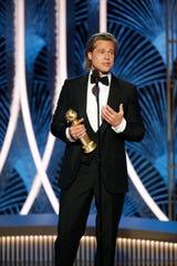 Brad Pitt walked away a Golden Globes winner.