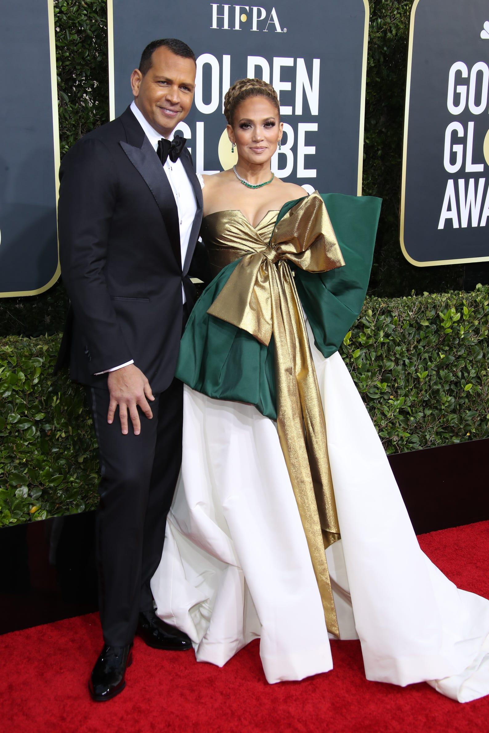 Alex Rodriguez, left, and Jennifer Lopez