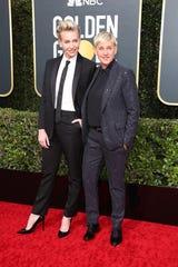 Portia de Rossi, left, and Ellen DeGeneres