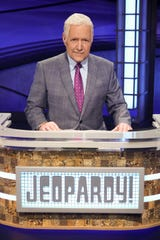 """In this file photo, Alex Trebek hosts the """"Jeopardy!: Greatest of All Time"""" tournament, which aired in January 2020."""