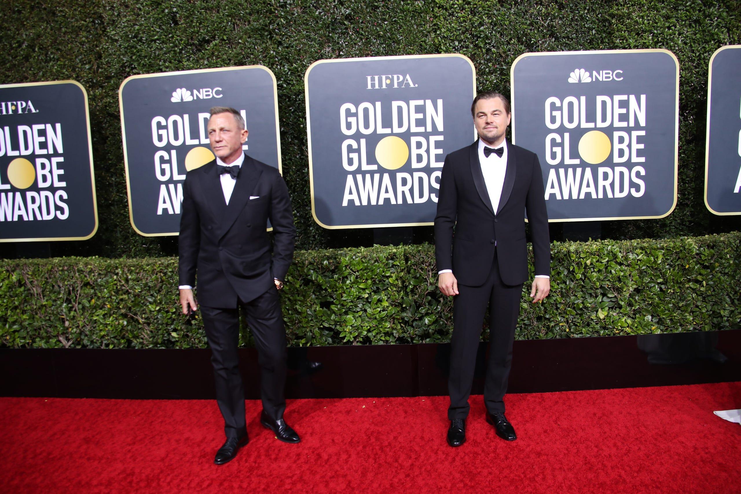 Daniel Craig, left, and Leonardo DiCaprio