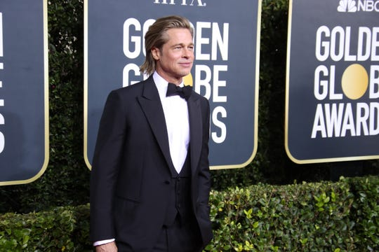 Brad Pitt won best supporting actor at the Golden Globes.