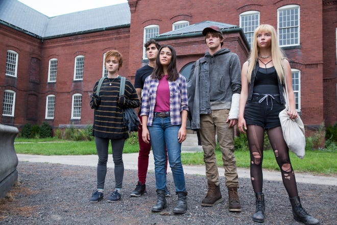 "Maisie Williams (far left), Henry Zaga, Blu Hunt, Charlie Heaton and Anya Taylor-Joy are the misfit kids with powers who have to fight their way out of a mysterious asylum in the horror thriller ""The New Mutants."""