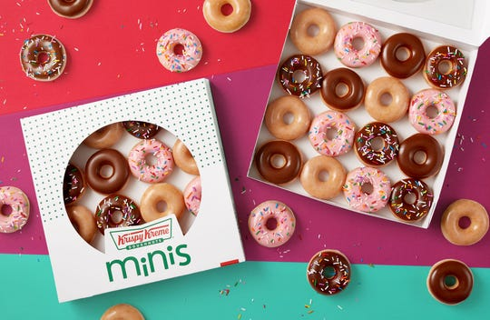 Krispy Kreme has new Mini Doughnuts, which are available in four varieties.