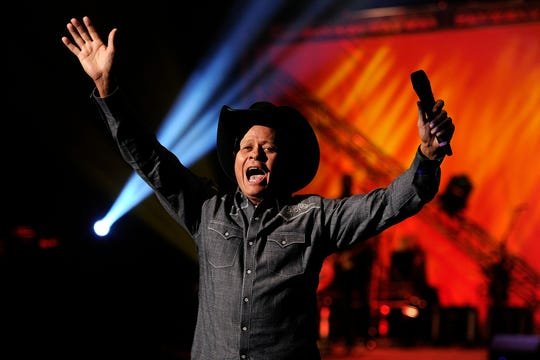 Neal McCoy lets go with enthusiasm during his appearance at the 2015 Rehab telethon. He is co-headliner this year with rising country singer Lindsay Elle.