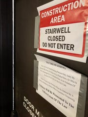 The city of Asheville has barricaded and locked the Civic Center Parking Deck's stairwells after discarded needles and human waste were found inside.