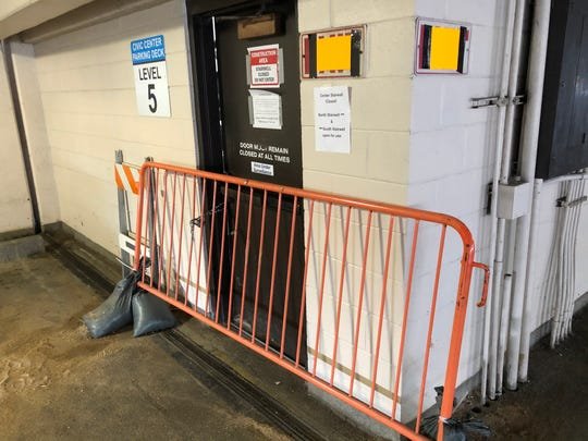 The city of Asheville has barricaded and locked the Civic Center Parking Deck's stairwells after discarded needles and human waste were found inside. The stairwells had been barricaded but not locked.